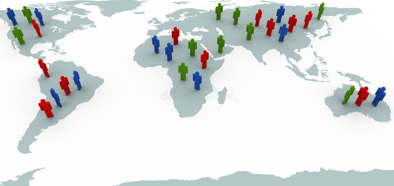 La gente sul programma di mondo illustrazione vettoriale
