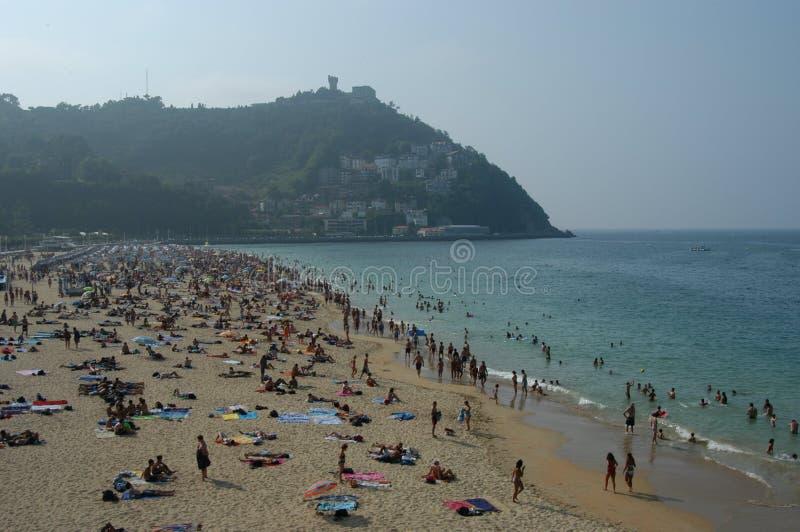 La Gente Sulla Spiaggia Fotografia Editoriale