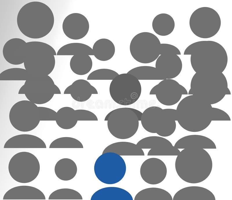 La gente un blu illustrazione di stock