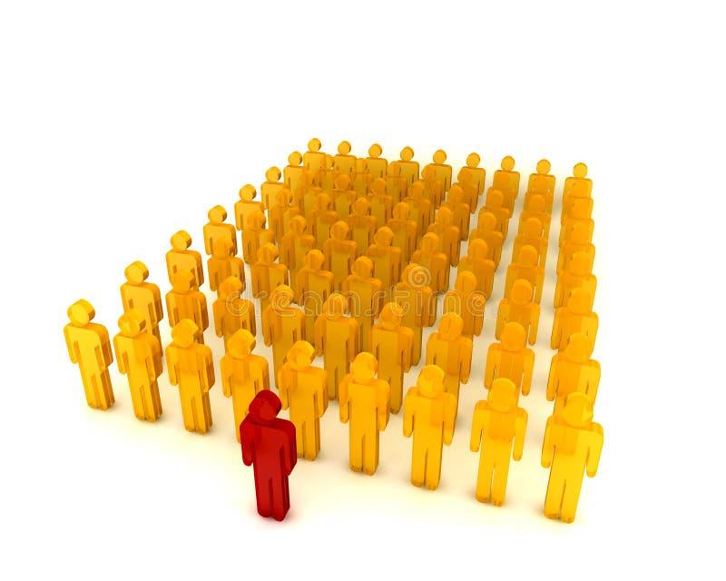 La Gente In Un Row002 Immagini Stock Gratis