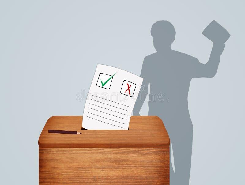 La gente va a votar en elecciones libre illustration