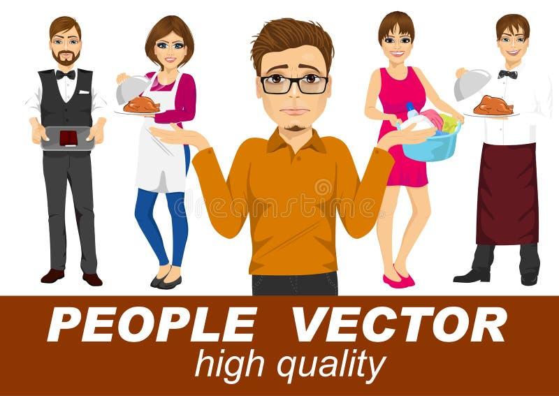 La gente vector con los diversos caracteres ilustración del vector