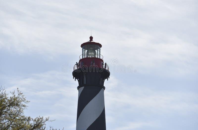 La gente visita al santo Augustine Florida Light Station foto de archivo libre de regalías