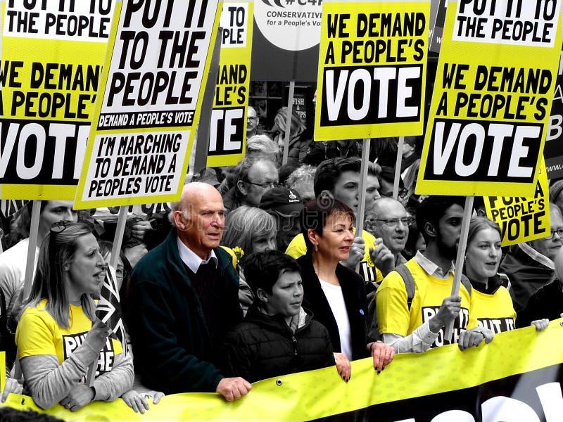 La gente voto 23 marzo marzo 2019 fotografia stock