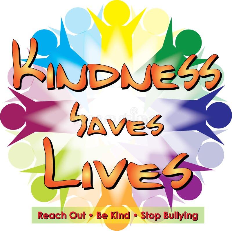 La gentilezza conserva le vite illustrazione di stock