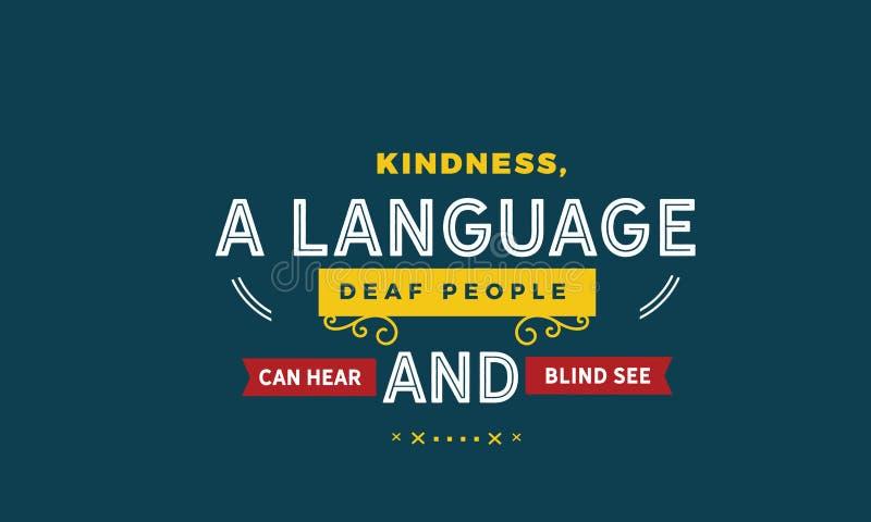 La gentilezza, una gente sorda di lingua può sentire e ciechi vedere royalty illustrazione gratis