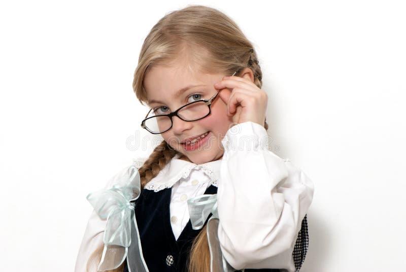 La gentille écolière en glaces photographie stock