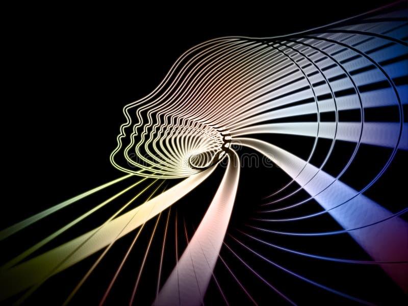 La geometría cada vez mayor del alma ilustración del vector