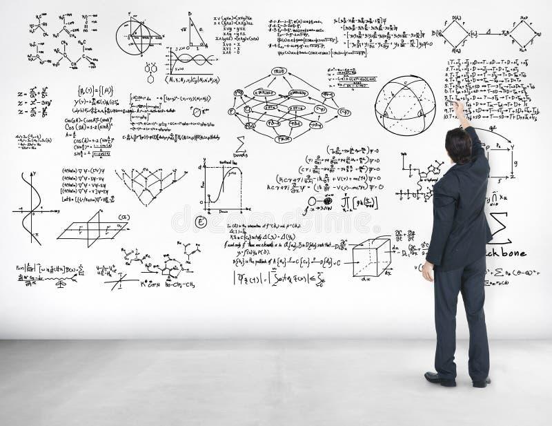 La geometría del símbolo matemático de la ecuación de las matemáticas de la fórmula informa imagen de archivo