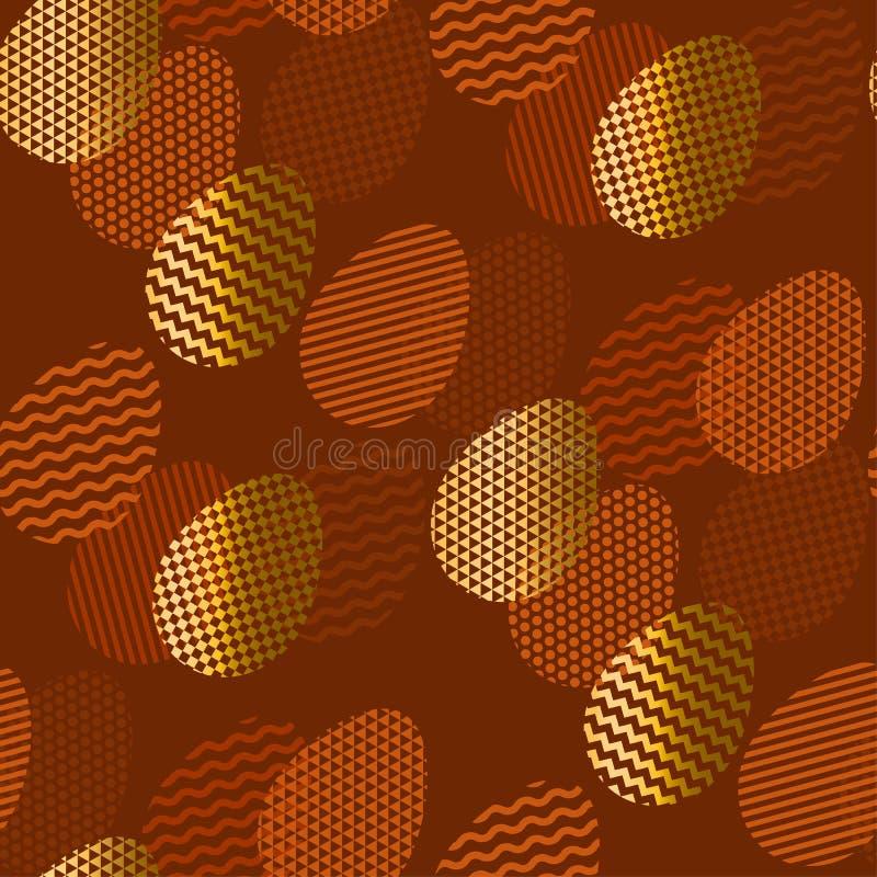 La geometría texturizó el modelo inconsútil del huevo de Pascua libre illustration