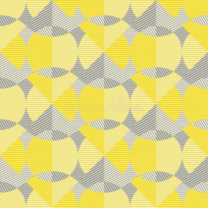 La geometria astratta allinea il motivo ripetibile illustrazione vettoriale