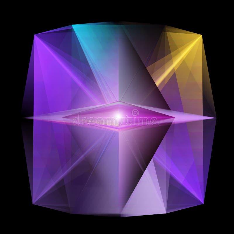 La geometria astratta, concetto per Multidimensions, Scien futuristico illustrazione di stock