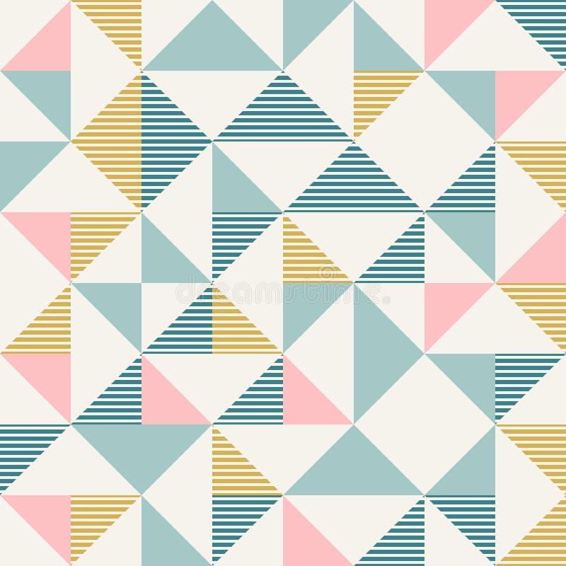 La geometria astratta nei retro colori, modello di geo di forme del diamante illustrazione vettoriale