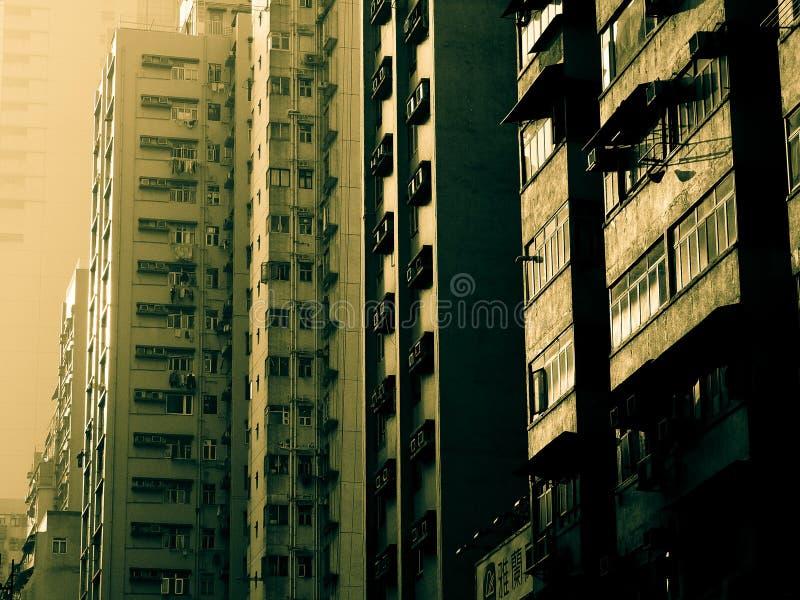La geometria dei grattacieli di Hong Kong immagine stock libera da diritti