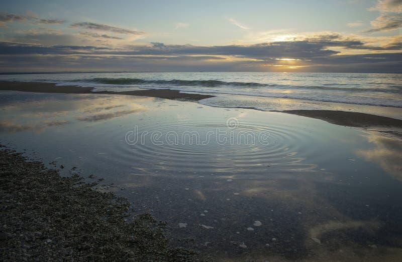La geometria del mare in autunno fotografia stock libera da diritti