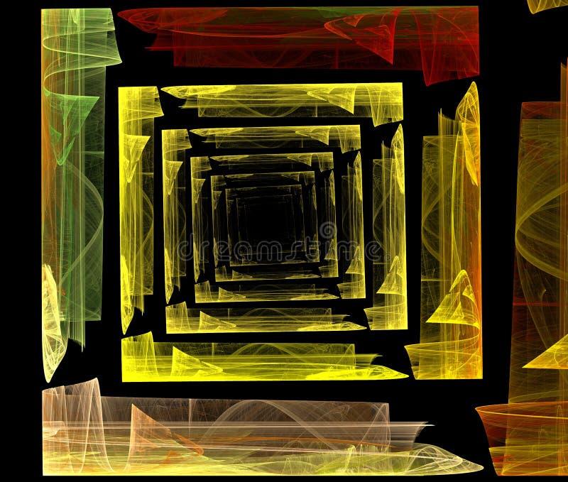 La geometria di frattalo fotografie stock