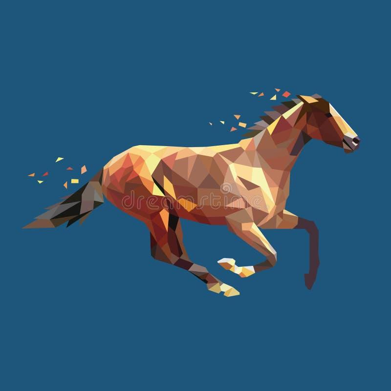 La geometria di vettore del cavallo illustrazione di stock