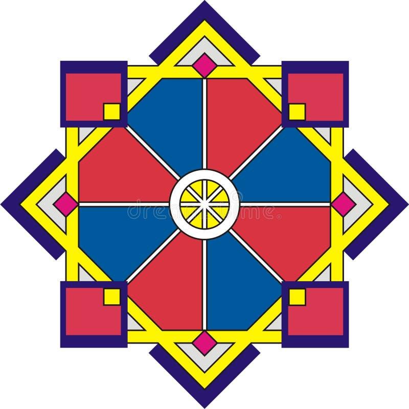 La geometria - rosetta ornamentale immagini stock