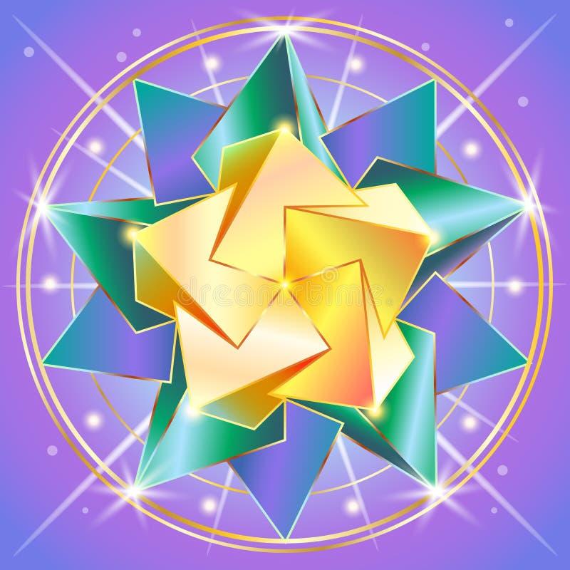 La geometria sacra royalty illustrazione gratis