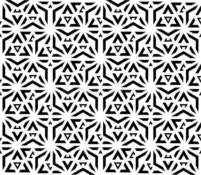 La geometria sacra del modello senza cuciture in bianco e nero illustrazione di stock