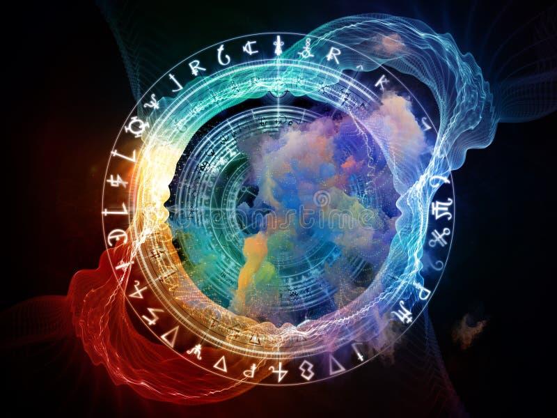 La geometria sacra evolventesi illustrazione vettoriale
