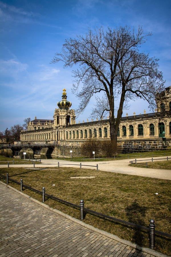 La Germania, Dresda, 03 02 2014 Palazzo, galleria di arte e museo di Zwinger a Dresda, Germania fotografia stock