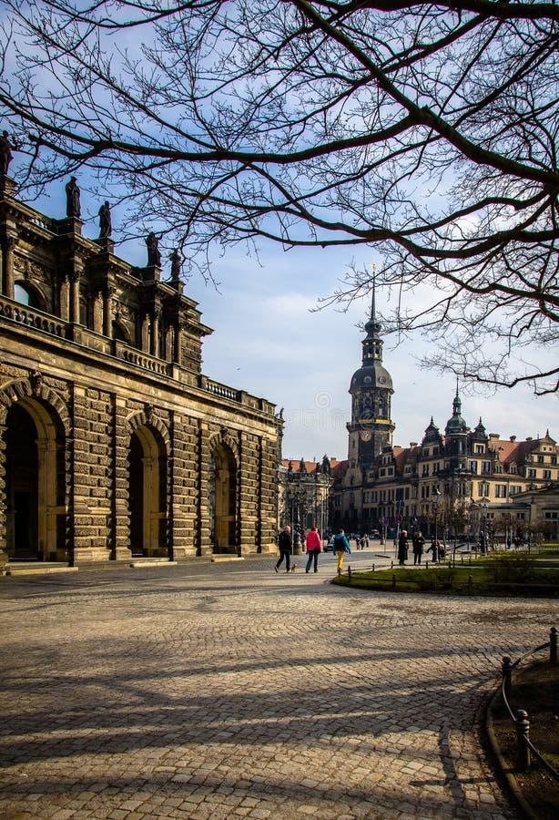 La Germania, Dresda, 03 02 2014 Palazzo, galleria di arte e museo di Zwinger a Dresda, Germania immagini stock