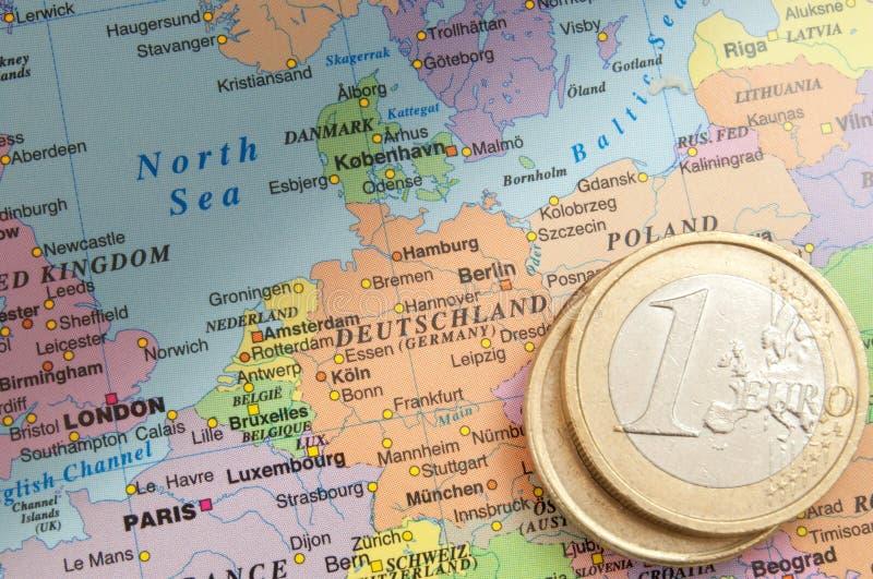 La Germania e l'euro fotografie stock