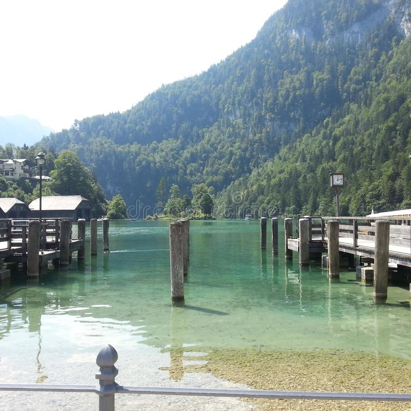 La Germania, Kingssea/Königssee immagini stock
