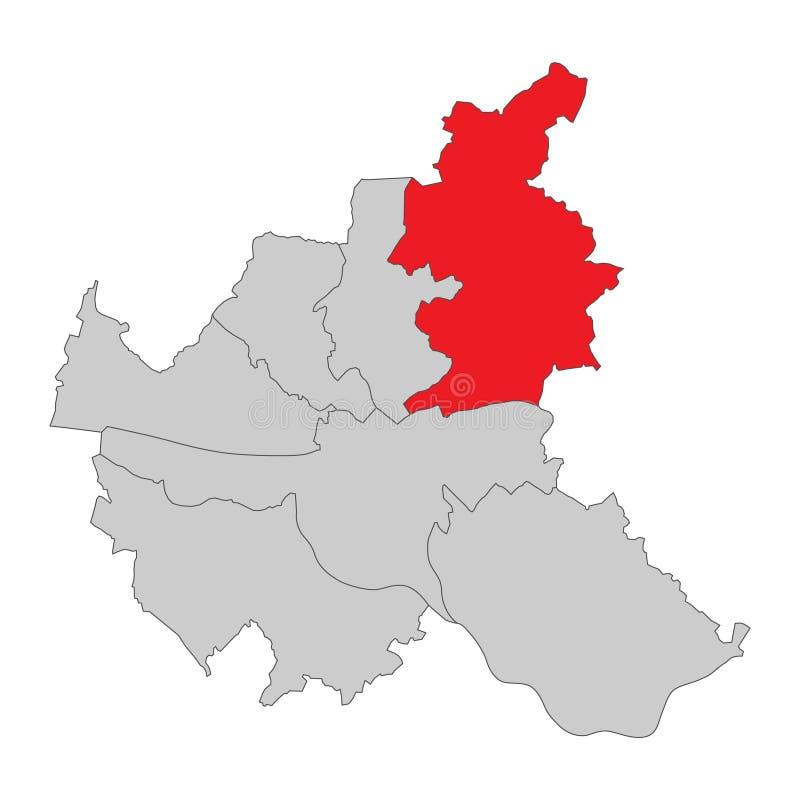 La Germania - mappa di Amburgo - alto dettagliato illustrazione di stock