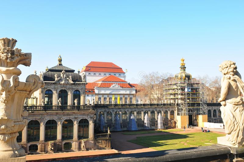La Germania orientale: Dresdens Late-Barock Château immagine stock