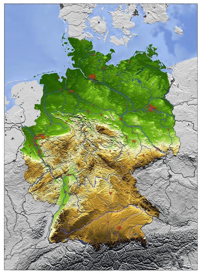 La Germania, programma di rilievo royalty illustrazione gratis