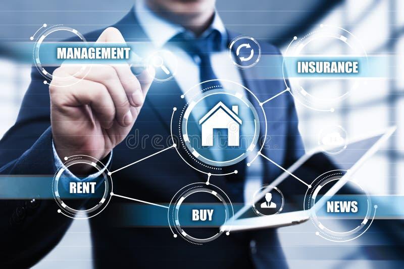 La gestión Real Estate de la propiedad hipoteca concepto de la compra del alquiler imagen de archivo libre de regalías