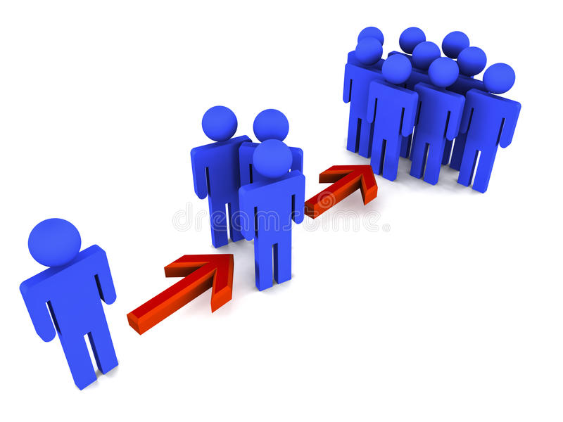 La gestion de réseau se multiplient illustration de vecteur