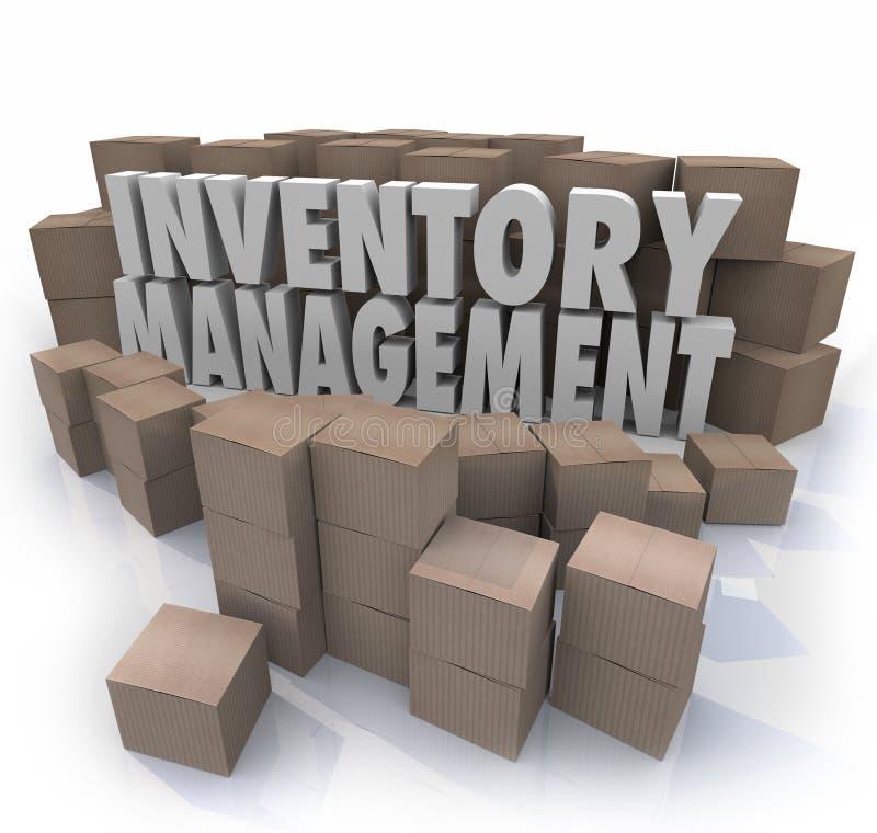La gestion des stocks exprime les boîtes de contrôle logistiques P de chaîne d'approvisionnements illustration libre de droits
