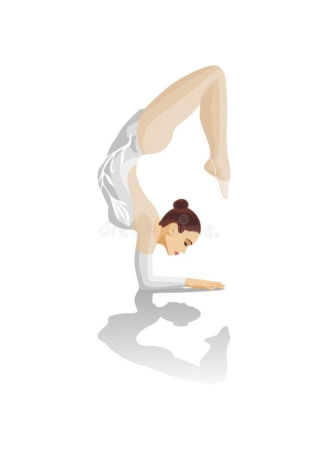 La ginnasta illustrazione vettoriale