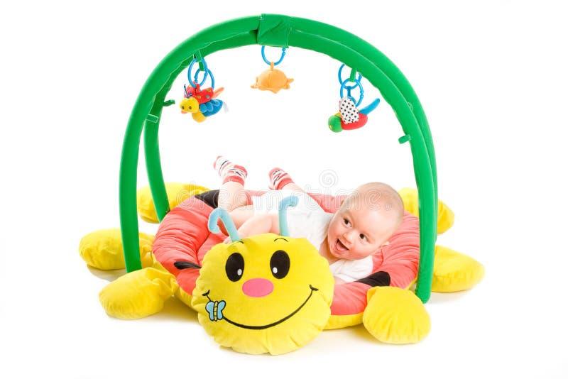 La ginnastica del bambino ha isolato immagine stock