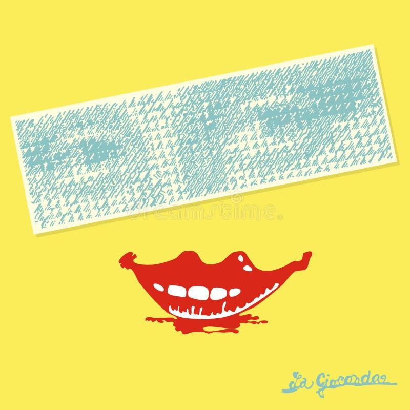 La Gioconda-Lächeln stockfotos