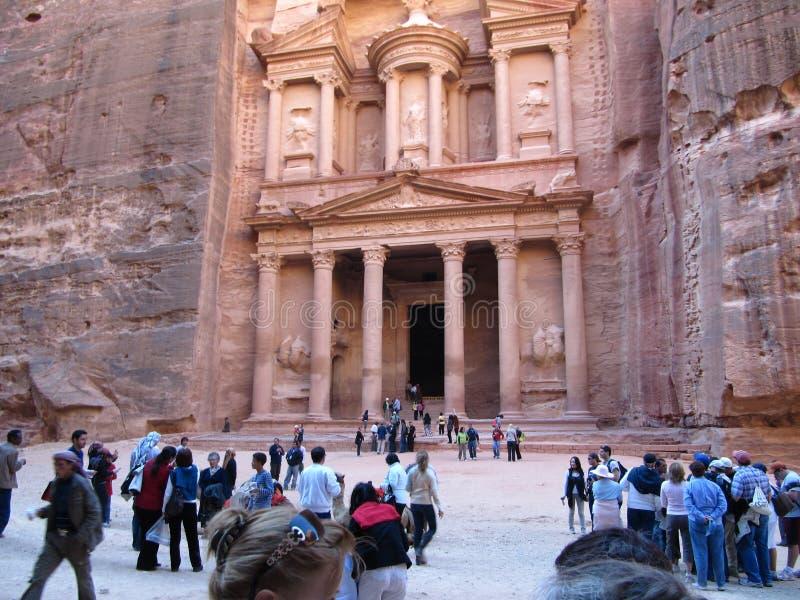 La Giordania, PETRA - 26 dicembre 2009 Annuncio Deir, il tempio di PETRA, Giordania del monastero fotografie stock