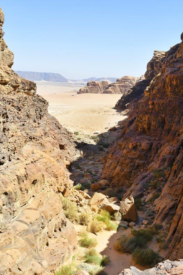 La Giordania, Wadi Rum immagini stock libere da diritti