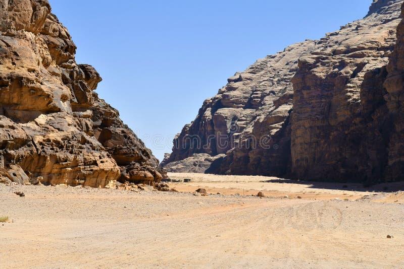 La Giordania, Wadi Rum fotografia stock