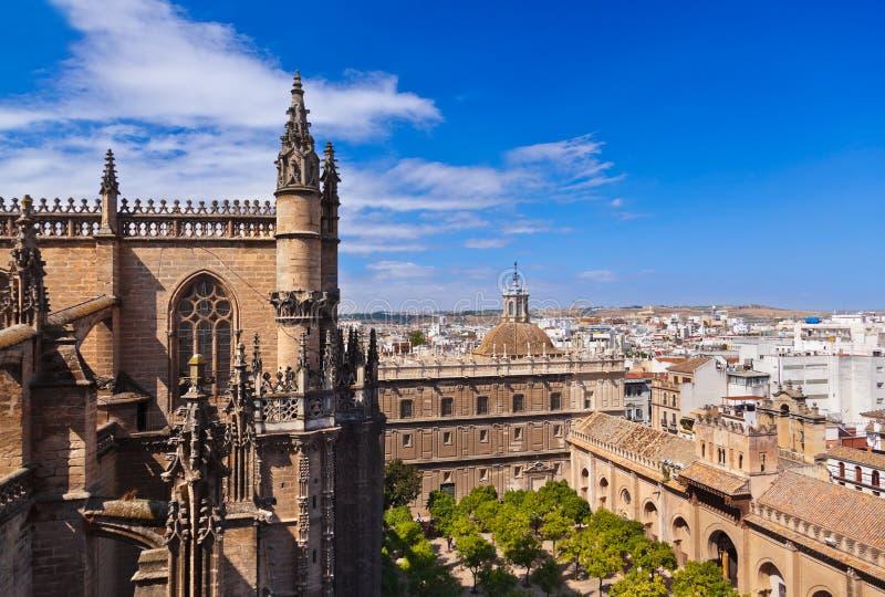 La Giralda de cathédrale à Séville Espagne photographie stock