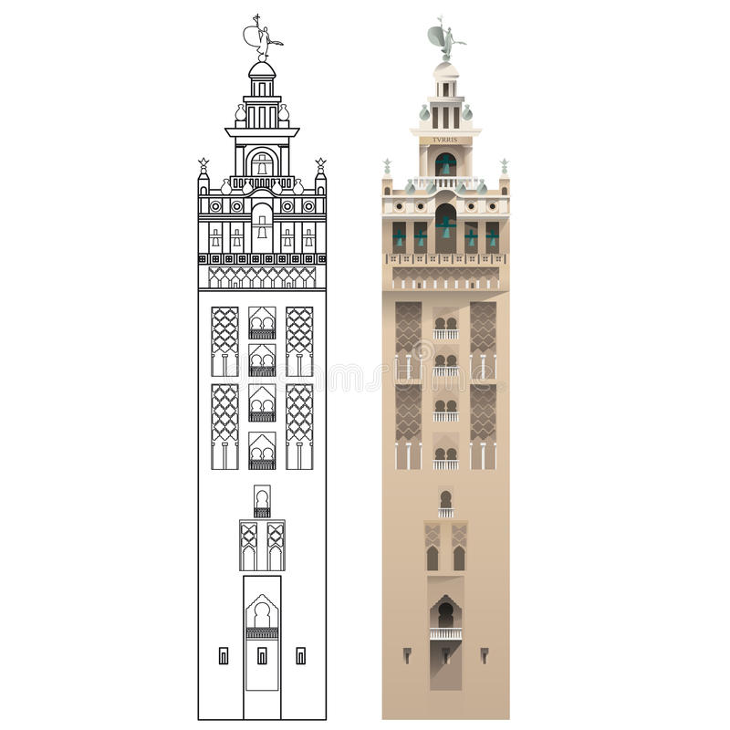 La Giralda, Sevilla vektor abbildung