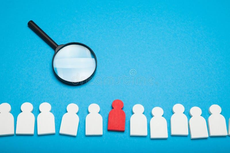 La giusta risorsa di talento, umana seleziona Ritrovamento della società, ricerca, gente la migliore di noleggio immagini stock