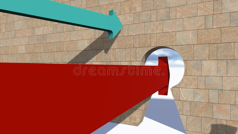 La giusta scelta (versione rossa) illustrazione vettoriale