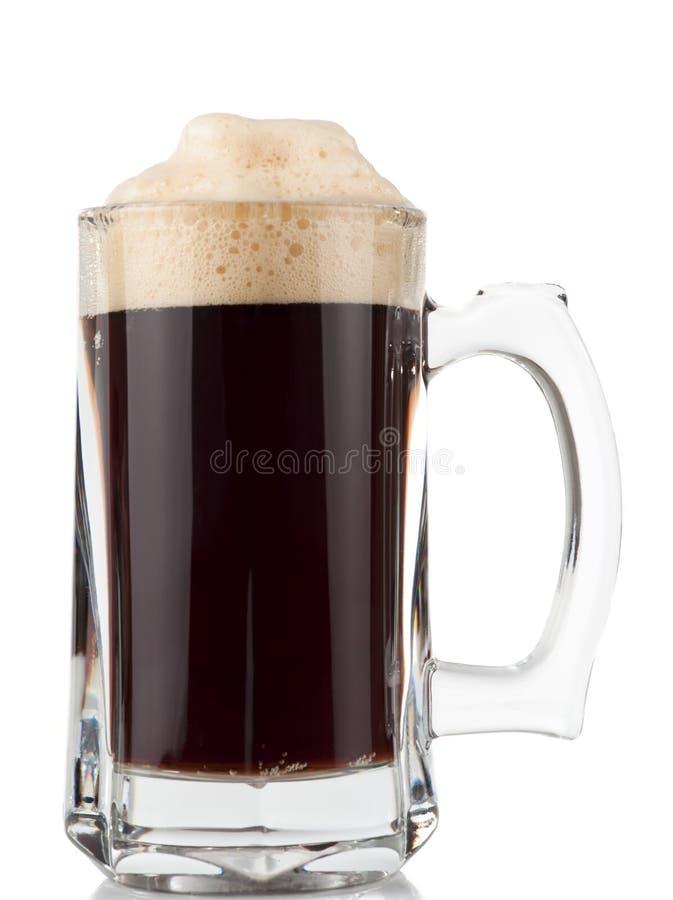 la glace de bière a isolé la tasse massive photos libres de droits