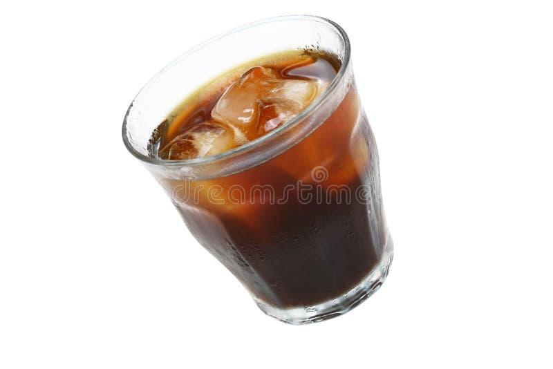 la glace de kola de café a glacé le blanc photo stock
