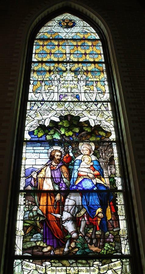La glace souillée Mary Joseph se sauvent avec Jésus image stock