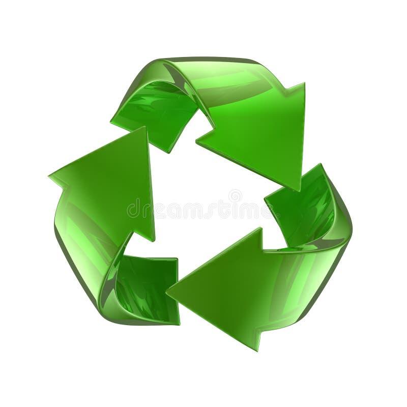 La glace verte réutilisent le symbole illustration libre de droits