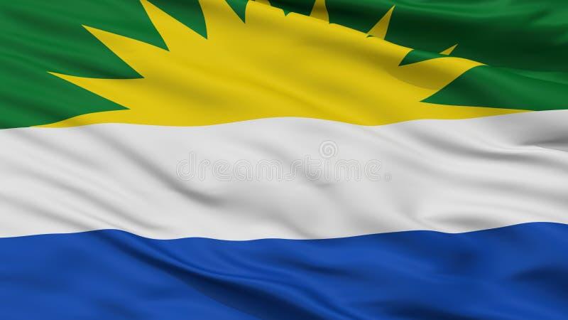 La Gloria City Flag, Colombie, Cesar Department, vue de plan rapproché illustration libre de droits